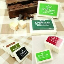 Label Multi-color Rubber Stamp Oil Based Craft Fabric Ink Pad