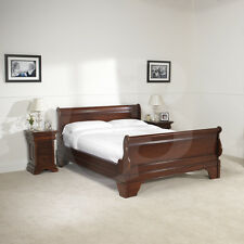 eGB13 Solid Mahogany Sleigh Bed Frame Double King and Super King Sizes