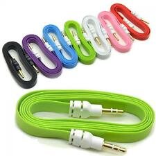 Flat Stereo 3.5 Mm Aux Cable Music Cord Male To Male