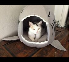 Shark Bed for Small Cat Dog Cave Bed Removable Cushion,waterproof Bottom