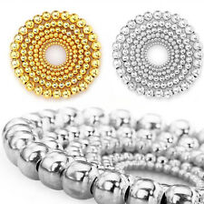 100/500Pcs Wholesale Silver Gold Plated Round Ball Spacer Beads Findings 4-8mm