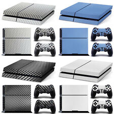 Full Set Carbon Fiber Decal Sticker Cover For PS4 & 2 Controller Protector Skins