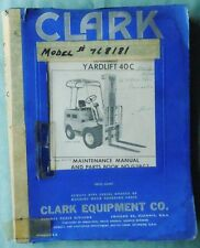 clark forklift manual ebay. Black Bedroom Furniture Sets. Home Design Ideas
