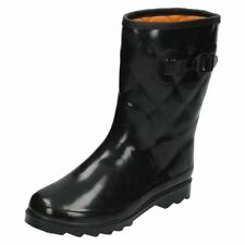 Womens Spot On Quilted Wellington Boots