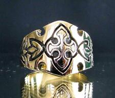 BRONZE BAND RING TEMPLAR KNIGHT AXE CROSS CRUSADER MEDIEVAL ANTIQUED ANY SIZE