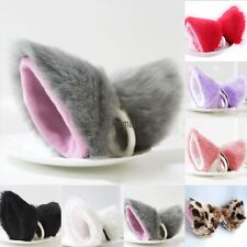 2016 HOT Cosplay Party Cat Fox Long Fur Ears Anime Neko Hair Clip Orecchiette LM