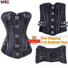 Women Basque Bustier Gothic Steampunk Corset Lace Up Waist Training Lingerie Top