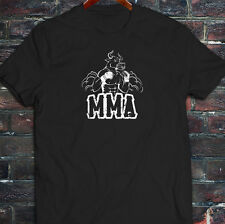 MMA FIGHTING BULL CAGE FIGHT MIXED MARTIAL ARTS Mens Black T-Shirt