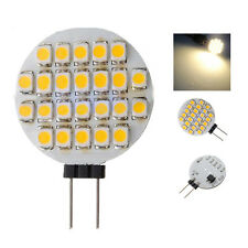10x G4 SMD 24 LED Cabinet Marine Camper Car Bulb Lamp 12V Warm White Light F6