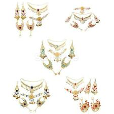 Bridal Party Belly Dance Costume Necklace Earrings Headpiece Hand Jewelry Set