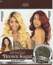ISIS BS207 Human Hair Synthetic StyleMix Heat Safe LACE FRONT MIXED COLOURS WIG