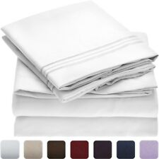 NEW Mellanni Luxury Flat Sheet - TWIN - HIGHEST QUALITY 1800 Brushed Microfiber