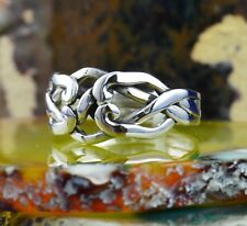 4 piece Sterling Silver Puzzle Ring in sizes 6, 7, 8, 9
