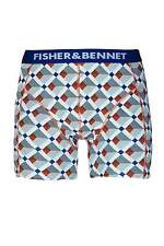 Fisher & Bennet Mens Cotton Stretch Multi-Coloured Check Boxer Shorts