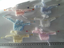 SALE  New Baby Jumpers on needles, Card Toppers / Embellishments