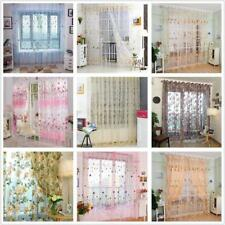Floral Tulle Drape Window Panel Sheer Scarf Valance Voile Balcony Door Curtain