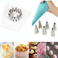 Tool Fondant Piping Icing Bag Stainless Steel Nozzles Coupler Pastry Tips
