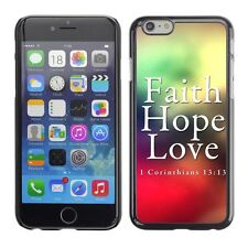 Hard Phone Case Cover Skin For Apple iPhone 5 Bible: Faith, Hope, Love""