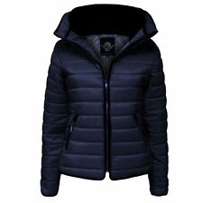 Girls Kids Padded Puffer Bubble Quilted Faux Fur Collar Zipped Jacket 1-14 Year