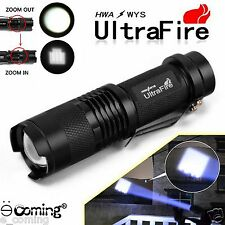 Ultrafire 3000LM Flashlight Zoomable CREE XM-L T6 LED Adjustable Torch Lamp Q5