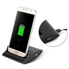 Dual OTG USB Sync Battery Charging Charger Dock Holder Cradle For Samsung Galaxy