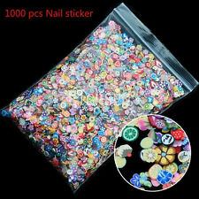 1000pcs DIY Nail Art Stickers Fimo Flower Fruit Animal Slice Clay Mixed Decal