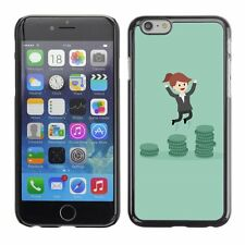 Hard Phone Case Cover Skin For Apple iPhone Business Woman Cartoon