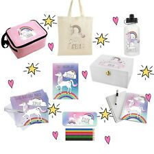 Personalised Unicorn Rainbow Gifts, Birthdays, Girls, For Her, Back To School