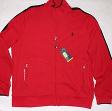 New Polo Ralph Lauren Performance Track Jacket Cotton Red Size XL XXL
