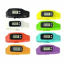 Fitness Watch Bracelet Calorie Counter Pedometer Walking Distance Digital LCD
