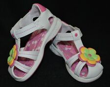 Buster Brown Toddler Girl's Kylie White/Multi Sandals - Size 8