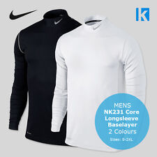 Nike NK231 Mens Core Long Sleeve Base Layer Golf Top 2 Col Sports Top Golf Shirt