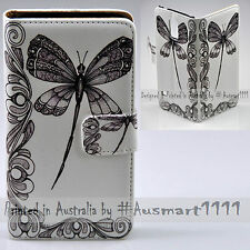 For Huawei Mate 9 8 G8 P9 P8 Lite - Dragonfly Print Wallet Phone Case Flip Cover