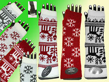 Arm warmers Hand Gauntlets fingerless gloves Arm warmer Norwegian Pattern NEW