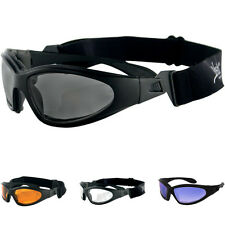Bobster GXR Casual Moto Mens Street Sport Bike Sunglasses With Strap