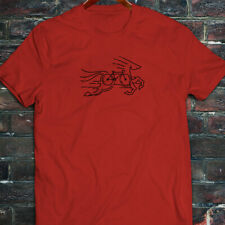 CYCLING HORSE BIKE ROAD MOUNTAIN BICYCLE RACE Mens Red T-Shirt