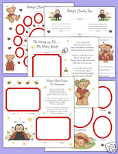 Ladybug Premade Scrapbook Pages Baby 12x12 Album Teddy Bear Adoption Twins Gift