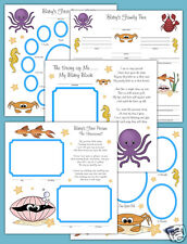 Sea Life Baby Premade Scrapbook Pages Layout 12x12 Album Adoption Twin Gift Set