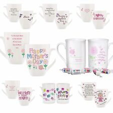 Personalised Mother's Day Latte Mugs, Cups, Mum, Mummy Gifts