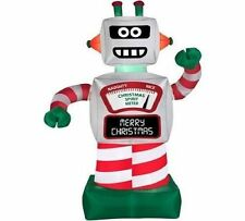 NEW 6 FT TALL ANIMATED CHRISTMAS ROBOT AIRBLOWN INFLATABLE GEMMY yard lawn decor