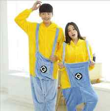 new Unisex Adult Onesie Kigurumi Pajamas Anime Cosplay Costume Dress Minions