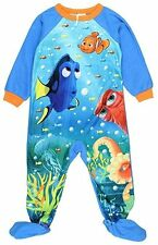 New! Disney Finding Dory Nemo  Toddler Boys Footed Blanket Sleeper Pajamas 4T 5T