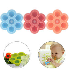 Silicone Baby Weaning Food Storage Container Freezer 7 Cubes Pots Tray with Lid