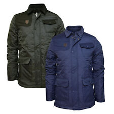 Mens Designer Crosshatch 'Jackster' Quilted Padded Casual Winter Jacket S-XL New