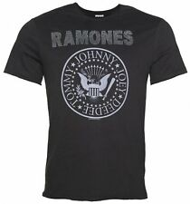 Official Men's Charcoal Ramones Silver Diamante T-Shirt from Amplified