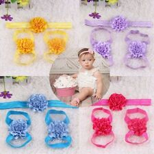 Bands Ruffled Girl Foot Flowers Baby Head Flower Infants Accessories Headband