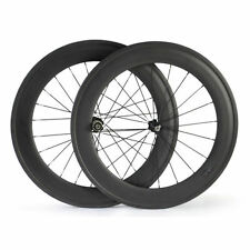 88mm Clincher Carbon Wheels Racing Bicycle Road Bike Ship From UK Wheelset