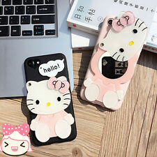 3D Hello Kitty Cat Mirror Silicon Case Cover For iPhone 6/6S Plus iPhone7 Plus