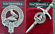 MacDonell Glengarry Scottish Clan Crest Badge or Kilt Pin Ships free in US