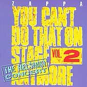 You Can't Do That on Stage Anymore, Vol. 2 by Frank Zappa (2CD,1995)